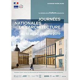 Affiche des Journées nationales de l'architecture en région Auvergne - Rhône-Alpes