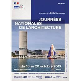 Affiche des Journées nationales de l'architecture en région Bretagne