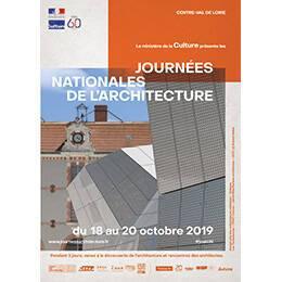 Affiche des Journées nationales de l'architecture en région Centre-Val de Loire
