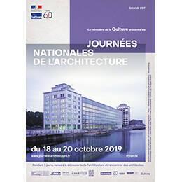 Affiche des Journées nationales de l'architecture en région Grand Est