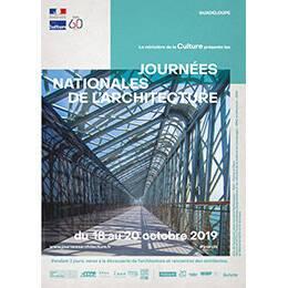 Affiche des Journées nationales de l'architecture en région Guadeloupe