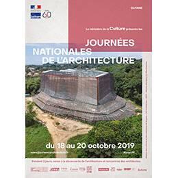 Affiche des Journées nationales de l'architecture en région Guyane