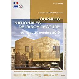Affiche des Journées nationales de l'architecture en région Île-de-France