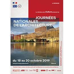 Affiche des Journées nationales de l'architecture en région La Réunion