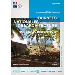 Affiche des Journées nationales de l'architecture en région Martinique