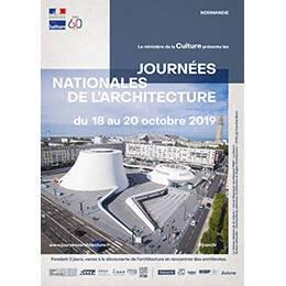 Affiche des Journées nationales de l'architecture en région Normandie