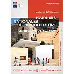 Affiche des Journées nationales de l'architecture en région Nouvelle-Aquitaine