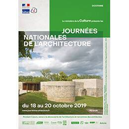 Affiche des Journées nationales de l'architecture en région Occitanie