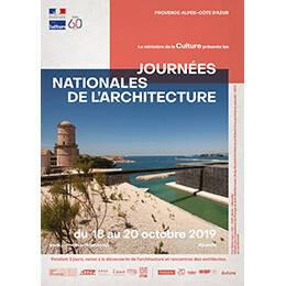 Affiche des Journées nationales de l'architecture en région Provence-Alpes-Côte-d'Azur